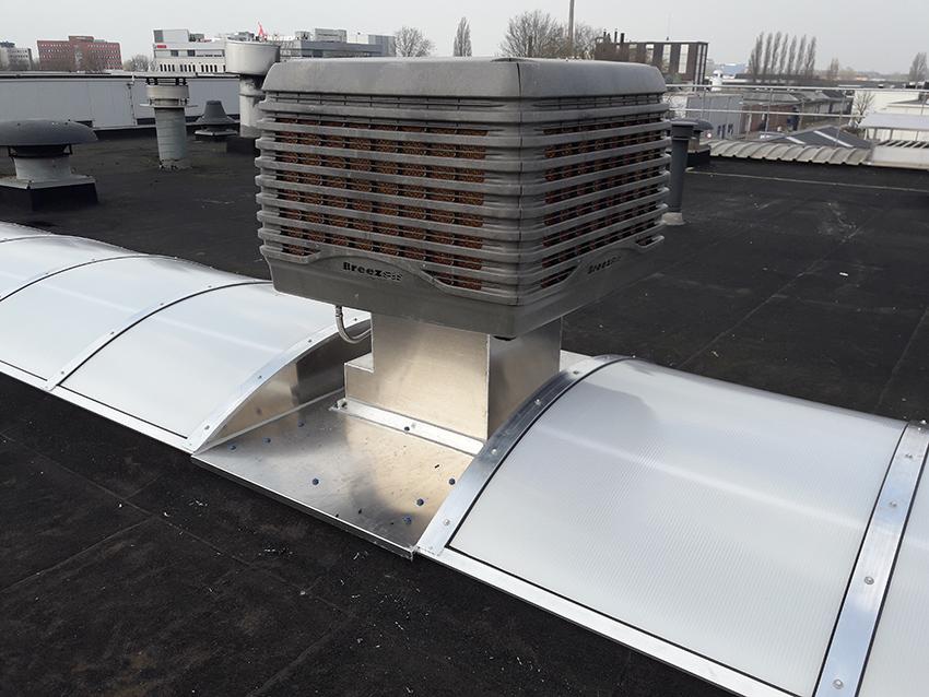 adiabatische koeling van breeze op dak